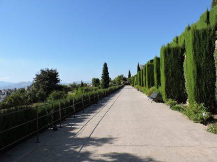 El comienzo del camino a Generalife