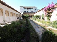 Vista de algunos jardines de Generalife