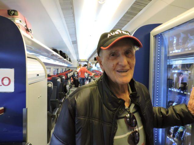 Opi por bajar del tren a nuestra llegada a Florencia.