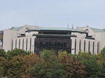 Palacio de Cultura Nacional de fondo