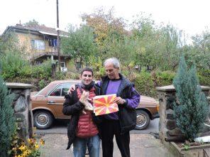 Con Branko antes de despedirnos