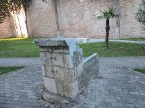 Muro de tiempo bizantino, en Durres