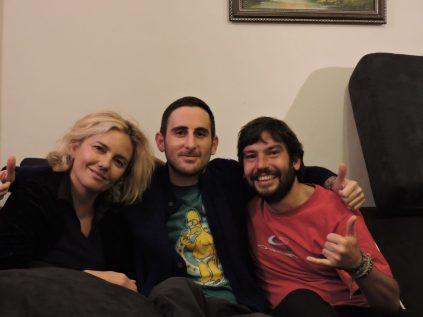 Con Maria Ines, nuestra host y JuanMi de Madrid