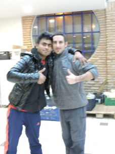Junto a Junaid, despidiendo el año