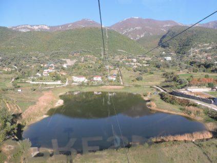 El lago desde el telesférico