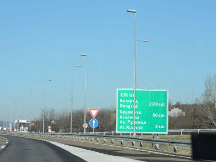En la ruta Nis-Belgrado junto a Boja