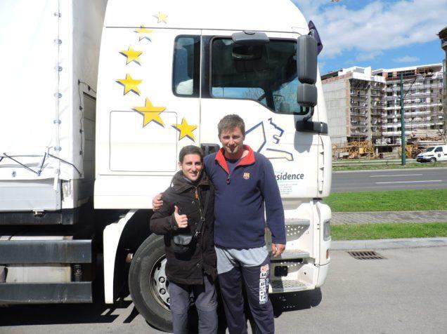 Con Alen, recién llegado a Sarajevo