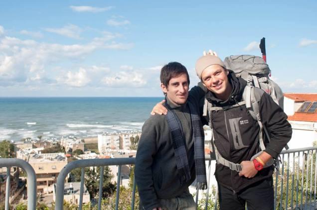 Vitaly y yo en Haifa, loco lindo