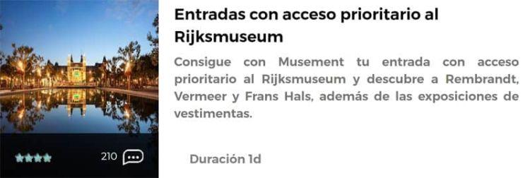 Entradas al Rijksmuseum