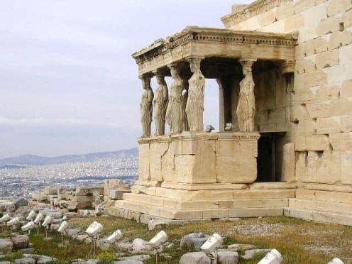 Cariátides Atenas Grecia