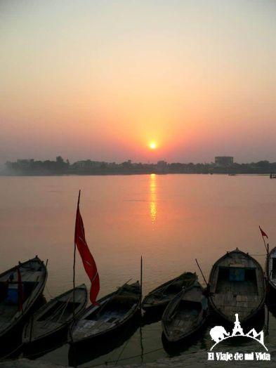 Atardecer en Varanasi