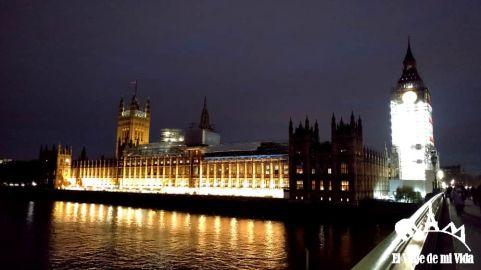 Londres de noche durante mi última visita