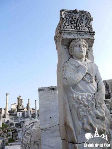 Detalles de las calles de Éfeso