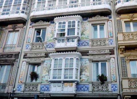 Edificios modernistas Plaza de Lugo A Coruña