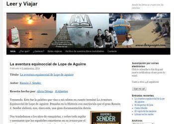 Entrevista al blog Leer y Viajar