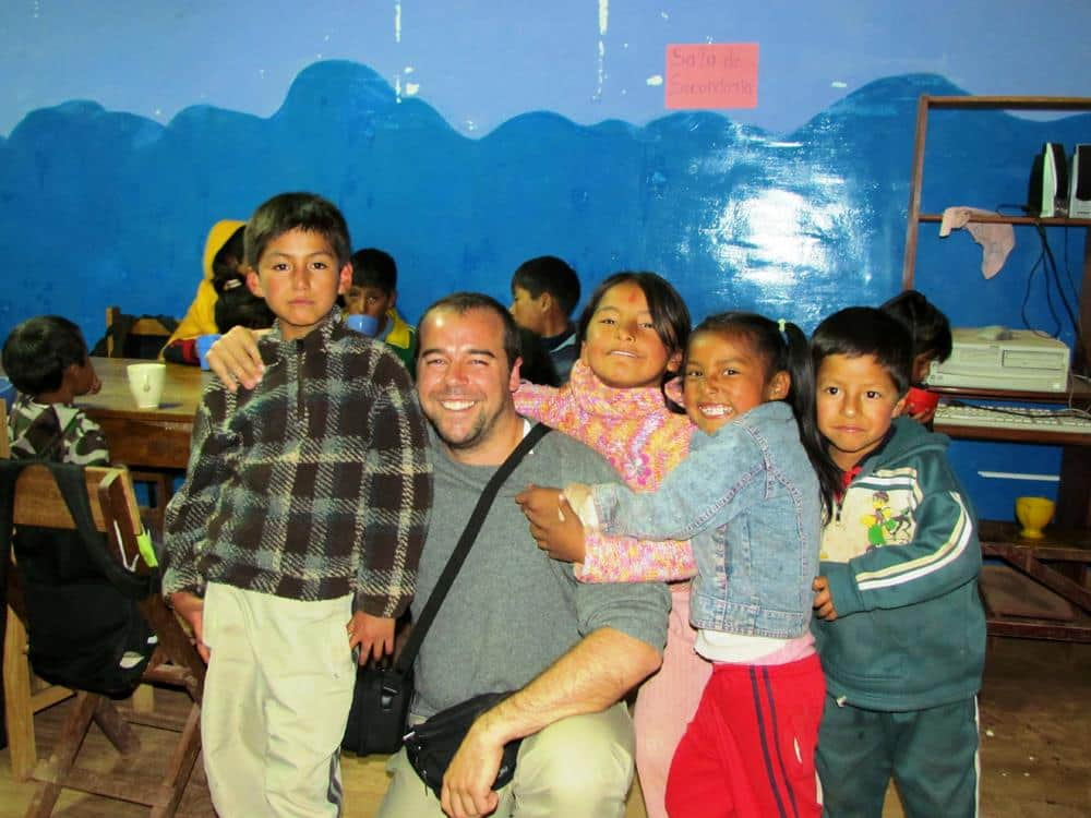 Jose en Perú como Voluntariado Cooperatour