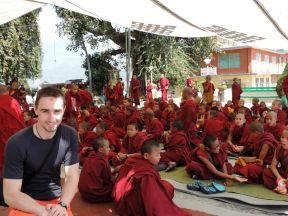 Monjes Budistas Nepal Voluntariado Cooperatour