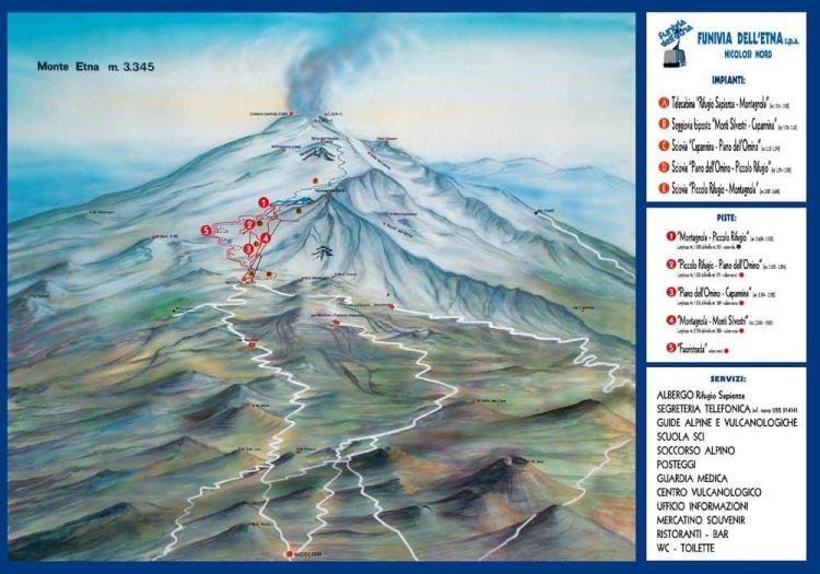 Mapa Etna