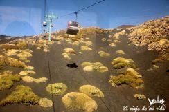 Teleférico subiendo al Etna