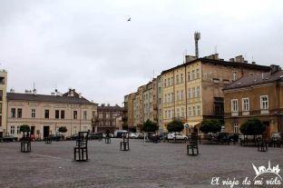Plaza Heroes Ghetto en Cracovia, Polonia