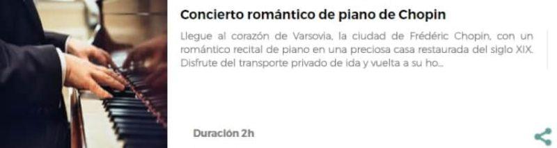Concierto de Chopin en Varsovia