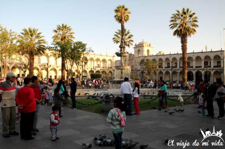 Plaza de Armas de Arequipa, Perú