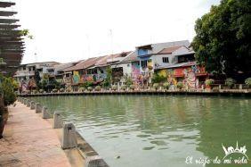 Crucero por el río Malaca, Malasia