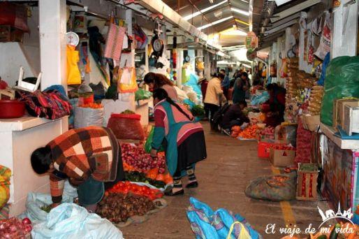 Mercado de Cusco en Perú