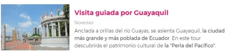 Visita guiada por Guayaquil