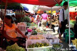 Mercado de Chinatown en Rangún, Myanmar