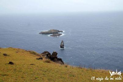 Orongo en la Isla de Pascua