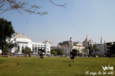 El distrito colonial de Rangún, Birmania