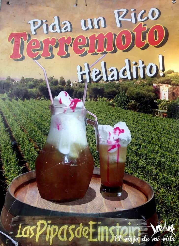 El Terremoto: un cóctel de vino blanco, helado y fernet