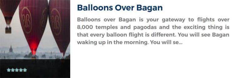 Sobrevolar en globo sobre Bagán