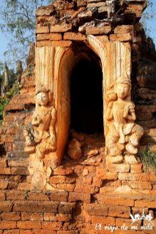 El pueblo de Indein en el lago Inle, Myanmar