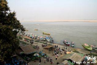 Rio Irawadi, Bagan, Myanmar