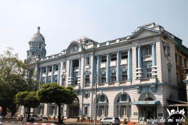 Barrio colonial de Rangún, Myanmar