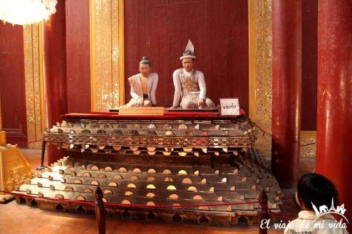 Representación de los últimos monarcas birmanos
