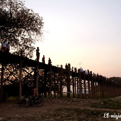 Puente U Bein Amarapura, Myanmar