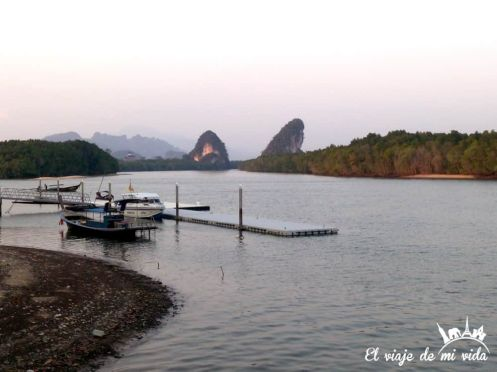 El puerto de Krabi Town
