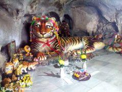 Réplica de los tigres que supuestamente vivieron allí