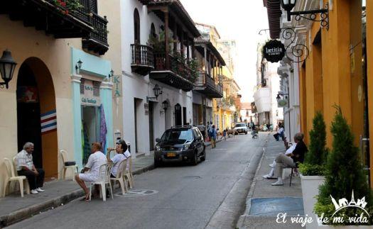 Las calles de Cartagena de Indias, Colombia