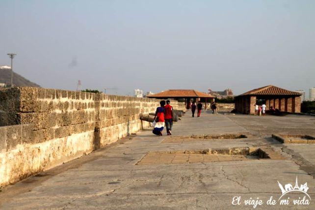 La muralla de Cartagena de Indias, Colombia