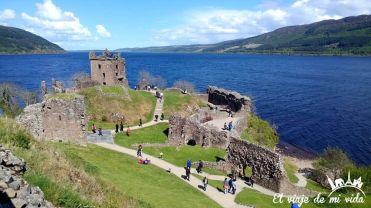 El Castillo de Urquhart, Loch Ness, Escocia