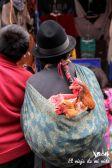 Haciendo la compra en el mercado con las gallinas