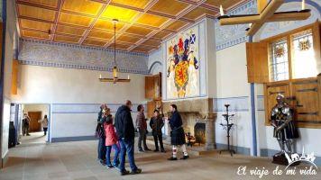 Interior del Castillo de Stirling en Escocia