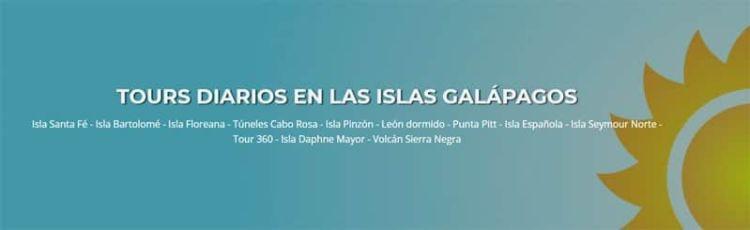 Tours diarios en Galápagos