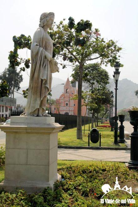 El barrio de Rimac en Lima, Perú