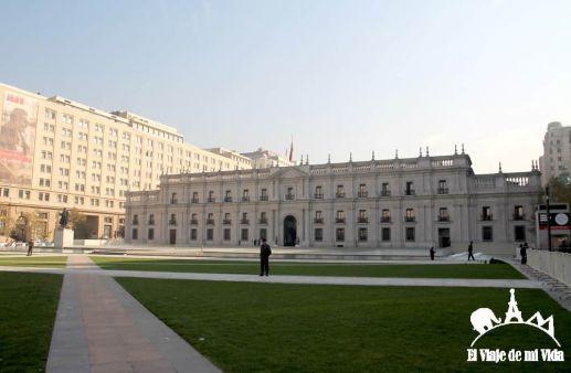 El Palacio de la Moneda en Santiago de Chile