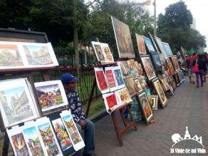Pintores callejeros en Lima, Perú